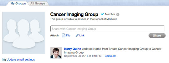 screenshot of CAP group feed