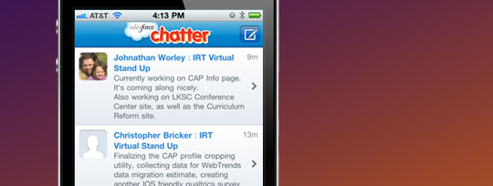 Chatter on iPhone