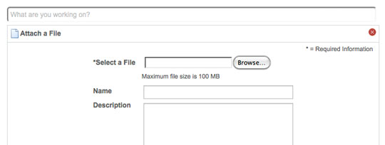 screenshot of CAP file sharing